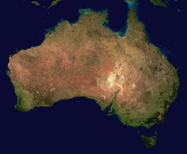 foto della australia dallo spazio