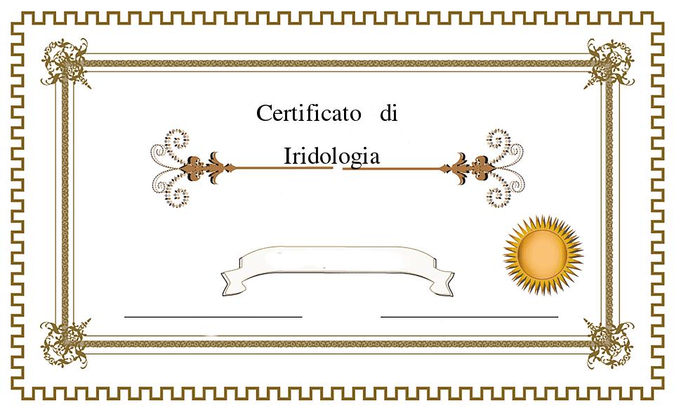 certificato di iridologo presso studio di iridologia