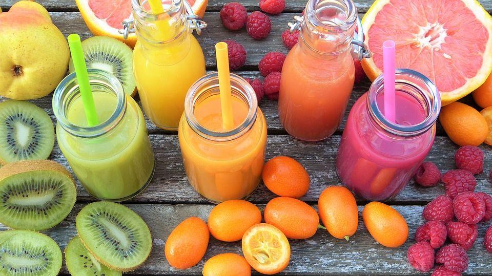 centrifugati di frutta fresca